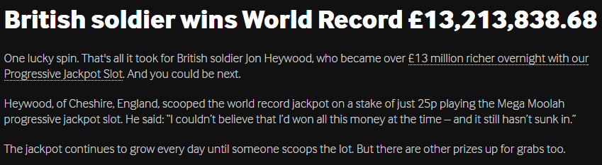 betway jackpot amount winner